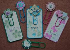 love these DIY bookmarks! for all of us that still love real books and actual pages ;)