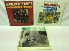 """Herman's Hermits LP Vinyl #Records Lot: The Best of + Hold On! + """"Mrs. Brown"""""""