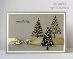Festival of trees xmas card, using supplies from Stampin' Up! www.craftingandstamping.com #stampinup