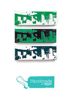 Philadelphia Skyline Canvas Set of 3 (12 x 4 inches each) Philly Sports Green, Black, White, & Silver, Philadelphia Eagles Wall Art, Cityscape Home Decor from Ink the Print http://www.amazon.com/dp/B016QNJ7RQ/ref=hnd_sw_r_pi_dp_cF.6wb0TTSE6N #handmadeatamazon