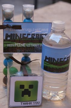 5 Minecraft Bubble gum Party Favors by DaiseyDoos on Etsy, $15.00