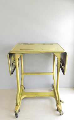 industrial yellow typewriter table by ohalbatross on Etsy