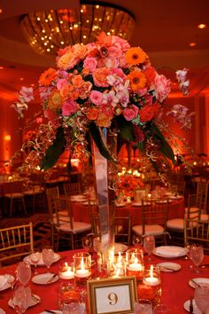 tall centerpiece