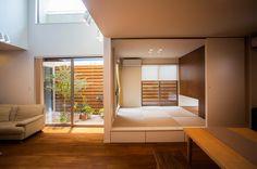 リビングに併設した和室は、客間としても活用できる。