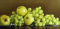 Cascade by Mickie Acierno Small Paintings, Large Painting, Still Life Artists, Photorealism, Realistic Drawings, Fine Art, Contemporary, Fruit, Sweet