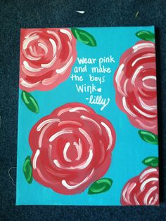 Lilly Pulitzer Inspired Canvas