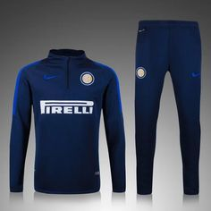 boutique france Nouveau Survetement homme de foot Inter Milan Le bleu marine 2015 2016