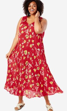 Comfy Dresses, Casual Dresses, Fashion Dresses, Church Fashion, Full Figured Women, Church Dresses, Woman Within, Plus Size Casual, Dress Images