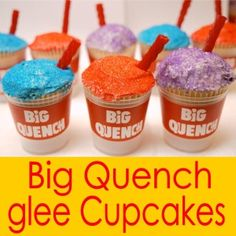 Big Quench Glee Cupcakes! If I have a 13th B-day party these are gonna be there!! Lol! xxxxx
