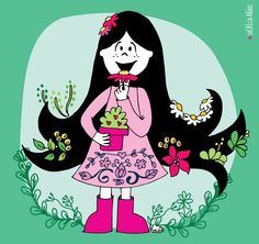 Deco, Illustration, Minnie Mouse, Disney Characters, Fictional Characters, Snow White, Pink, Disney Princess, Art