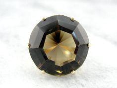 Bold Statement Ring with 23 carat Smoky Quartz