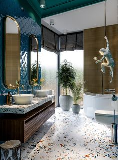 Bathrooms Tiles and sinks Where can I find terrazzo tiles and sinks in the UK? A guide and photos to beautiful .Where can I find terrazzo tiles and sinks in the UK? A guide and photos to beautiful . Bathroom Tile Designs, Bathroom Floor Tiles, Modern Bathroom Design, Bathroom Interior Design, Bathroom Wall, Bathroom Ideas, Small Bathroom, Bathroom Renovations, Bathroom Layout