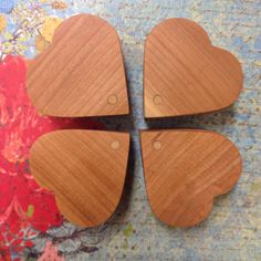 Handmade Wooden Heart Box by AnnPedenJewelry on Etsy