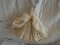 Assemblage Art miniature ballet dress by MesssieJessie on Etsy