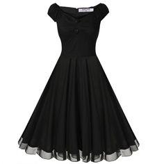 Angvns Stylish Ladies Women Dot Print Sleeveless V Neck High Waist A-Line Big Hem Midi Casual Party Dress