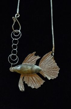 SassyK Designs  Ocean Agate Fish Necklace I Created