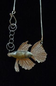 SassyK Designs  Ocean Agate Fish Necklace I Created