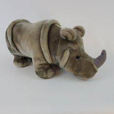 "Rhinoceros Plush Stuffed Animal Gray Toy Medium  24""  #QualityProduct Rhinoceros, Plush Animals, Medium, Toys, Ebay, Activity Toys, Rhinos, Felt Stuffed Animals, Games"