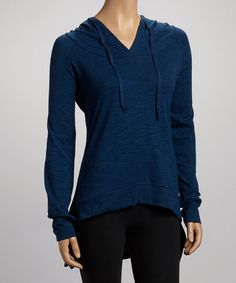 Take a look at this Ocean Blue Organic Swing Hoodie by Earth Yoga Clothing on #zulily today!