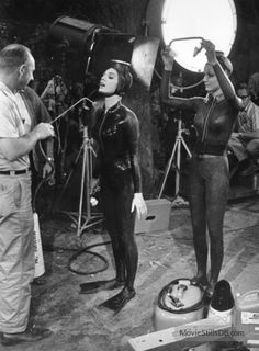 This photo was captured on the set of the film Man's Favorite Sport ? Actresses Paula Prentiss and Maria Perschy are seen here in this picture. This is an american comedy film, directed by. Film Man, Vintage Swim, Womens Wetsuit, Classic Horror Movies, Swim Caps, Comedy Films, Good Movies, Portrait, Sports