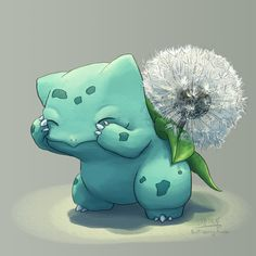 Dandelion Bulbasaur is shy!!