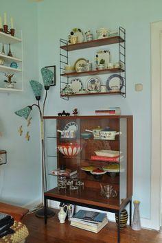 {cabinet + shelving} Trödelhaus - love this corner!