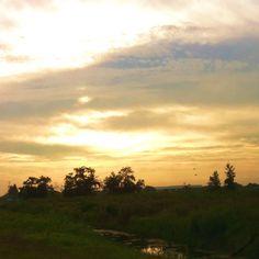 Dag25  het weer : zon komt op