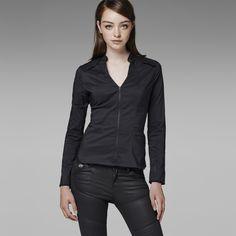 G-Star RAW | Women | Shirts | Avity Chopper Super Slim Shirt , Antracite