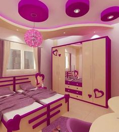 Looking for some beautiful design for your kids room. Bedroom False Ceiling Design, Bedroom Wall Designs, Room Design Bedroom, Small Room Bedroom, Kids Room Design, Bedroom Ceiling, Cute Bedroom Decor, Bedroom Decor For Teen Girls, Lounge Design