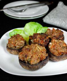 Пошаговый фото-рецепт шампиньонов, фаршированных мясом | Вторые блюда | Вкусный блог - рецепты под настроение