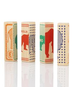 Love this Zoo Animal Puzzled Block Game on #zulily! #zulilyfinds