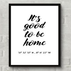 Just added some beautiful housewarming prints with customised coordinates. They…