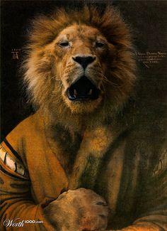Animal Renaissance 9 - Worth1000 Contests.     Albert (Lion) Durer