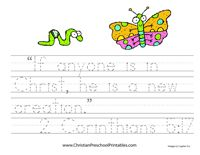 Preschool Bible Verse tracers, cards, etc