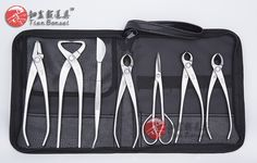 168.00$  Buy here - http://alik2w.worldwells.pw/go.php?t=1613833899 - Master's Grade 7 PCS Bonsai tool set (kit) JTTK-01 From TianBonsai 168.00$