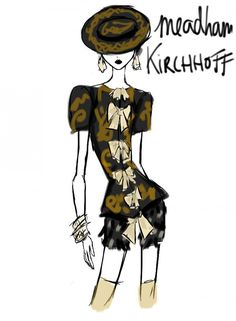 Rei Nadal draws live from the show - Meadham Kirchhoff @ London Womenswear S/S 2013 - SHOWstudio - The Home of Fashion Film Meadham Kirchhoff, Classic Style, My Style, Fashion Sketches, Fashion Illustrations, Live Fashion, Old World, Illustration Art, Women Wear
