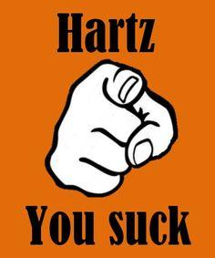 Twitter / @BoyCott_Hartz: Hartz, You Suck!