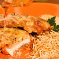 Hähnchen-Parmigiana-Filet - Famous Last Words I Love Food, Good Food, Yummy Food, Food Porn, Baked Chicken Recipes, Easy Healthy Recipes, Food Videos, Food Inspiration, Dinner Recipes