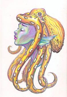 Octopus Mermaid by Inksmithillustration