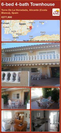 Townhouse for Sale in Torre De La Horadada, Alicante (Costa Blanca), Spain with 6 bedrooms, 4 bathrooms - A Spanish Life Alicante, Big Bedrooms, Long Holiday, Beach Bathrooms, Ground Floor, Property For Sale, Townhouse, Patio, Outdoor Decor