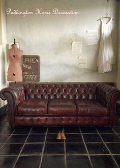 アンティークソファ、ビンテージソファ、チェスターフィールドソファ、アンティークレザーソファ、3シーター、アンティーク家具、通販