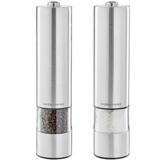 Andrew James Large Stainless Steel Electronic Salt And Pepper Mill Set Illuminates as it Grinds Steel Mill, Salt And Pepper Mills, Tesco Direct, Gift Finder, Top Gifts, Stainless Steel, Ceramics, Canning, Silver