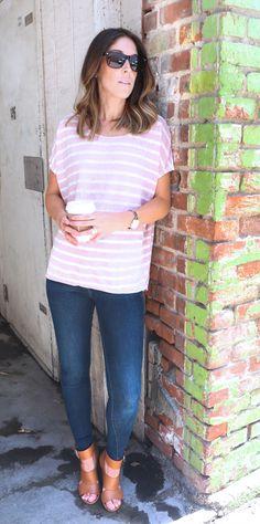 Drapey Linen Tee Shirt byVelvetby Graham & Spencer