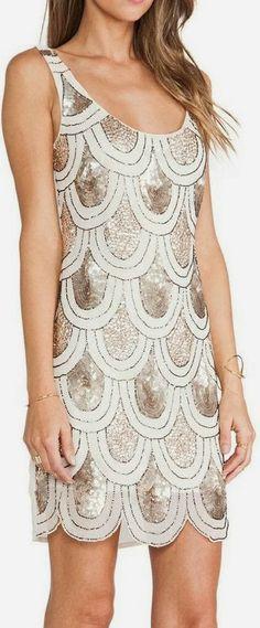 Contrast sequin detail embellished mini dress