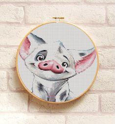 PUA The Pig Cross Stitch Pattern PDF Embroidery Chart Cute