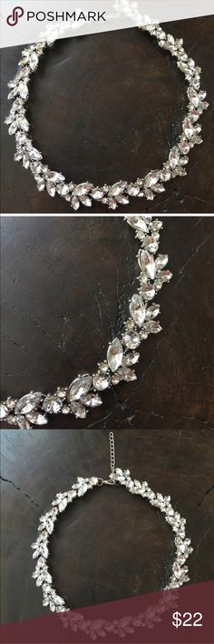 """Crystal Statement Necklace Crystal Statement Necklace.  This measures 16""""-19"""" long with extender. The last two pictures show the necklace at 16"""" and 19"""".   ✔ Price is firm unless bundled.   No trades, thanks. Jewelry Necklaces"""