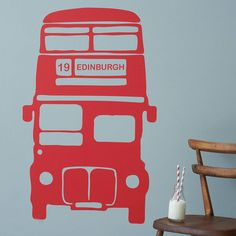 For our nursery. personalised bus vinyl wall sticker by oakdene designs | notonthehighstreet.com