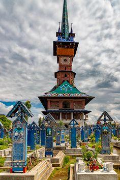 Sapanta Cimitirul Vesel-4 Romania Travel, Valley Of The Kings, Guinness World, Main Attraction, Best Cities, Cemetery, Big Ben, Transylvania Romania, Joyful