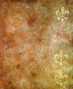 Fleur De Lis 16 x 20 ORIGINAL Acrylic Painting by niccoletti, $83.00