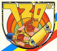 "Cabinet art / logo for ""720°"", a 1986 arcade game from Atari about skateboarding"
